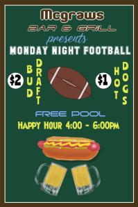 Bar Poster / Monday Night Football
