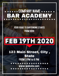 Bar academy lessons flyer