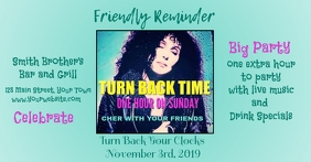 Bar Ad for Time Change Party