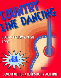 BAR AND LINE DANCING Volante (Carta US) template