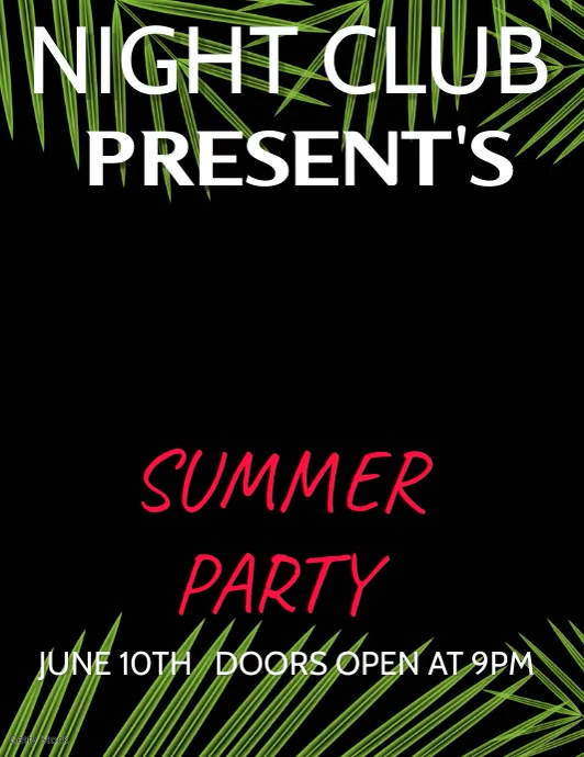 BAR AND NIGHT CLUB SUMMER PARTY