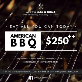 Bar Barbecue Deal Square Video Ad Template