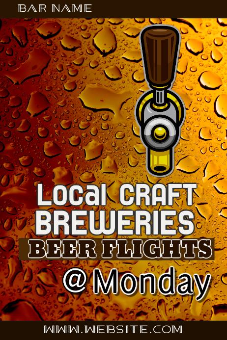 Bar Beer Flights Ad Poster