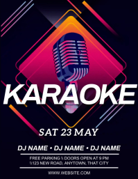 BAR CLUB KARAOKE AD FLYER TEMPLATE