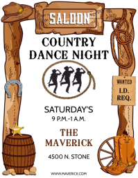 BAR COUNTRY Flyer (US Letter) template