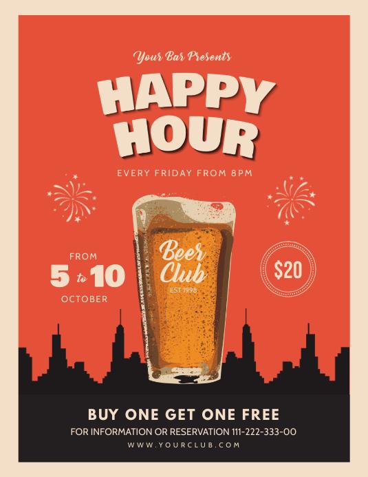 Bar Flyer template