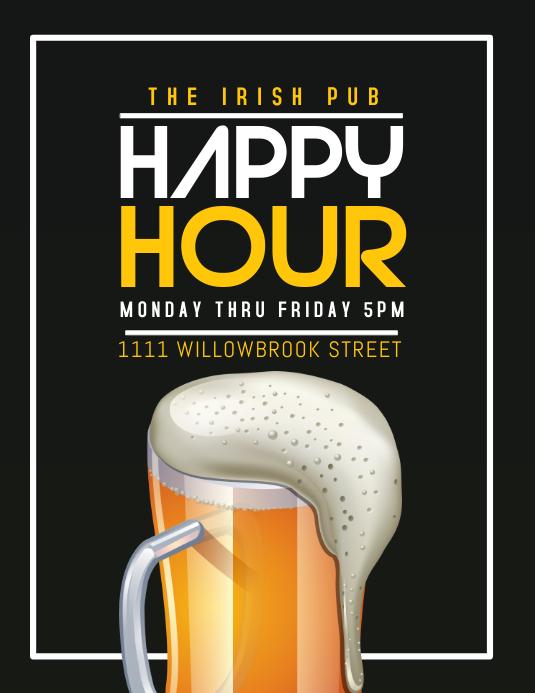 bar Flyer (US-Letter) template