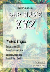 Bar Flyer weekend program Template advert