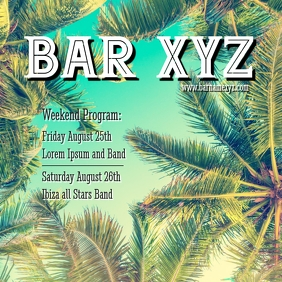 Bar Flyer weekend program Template advert ins