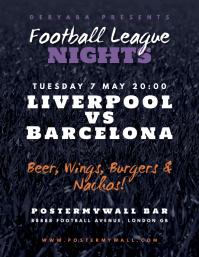 Bar Football Soccer Match Flyer