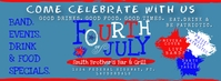BAR FOURTH OF JULY EVENT PARTY FB Cover Image Facebook 封面图片 template