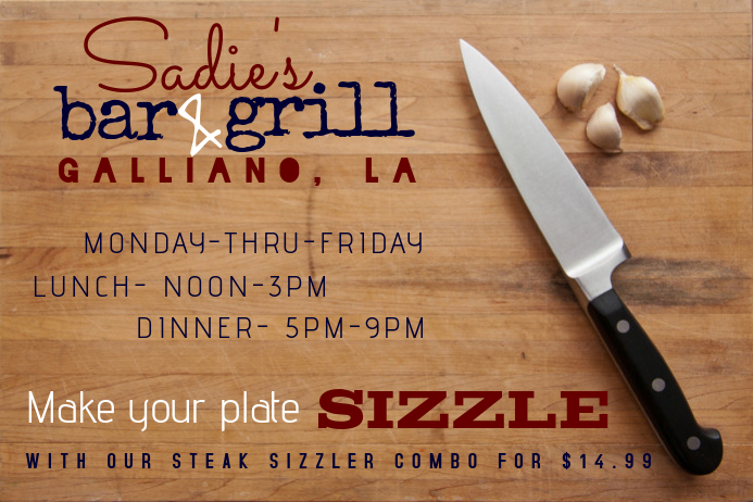 Bar Grill Ad Sale Food Flyer
