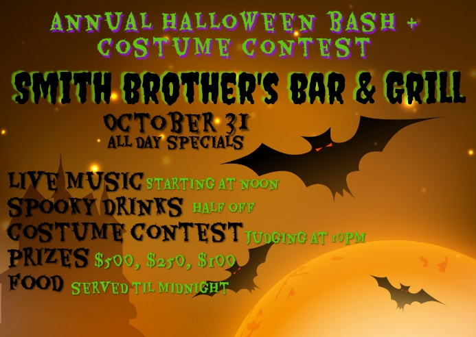 BAR HALLOWEEN BASH