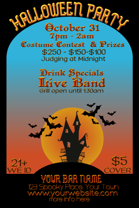 Bar Halloween Costume Contest