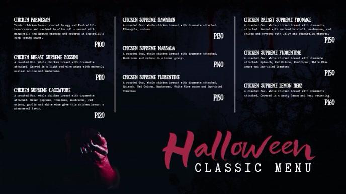 Bar Halloween Digital Display Menu Video