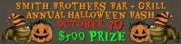 Bar Halloween Party Outdoor Banner Bannière 2' × 8' template