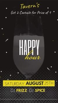 Bar Happy Hour Digital Display Video
