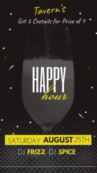 Bar Happy Hour Digital Display Video