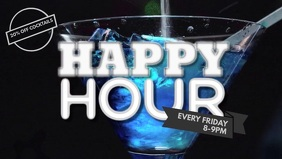 Bar Happy Hour Facebook Cover Video Template