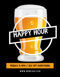 Bar Happy Hour Flyer Template