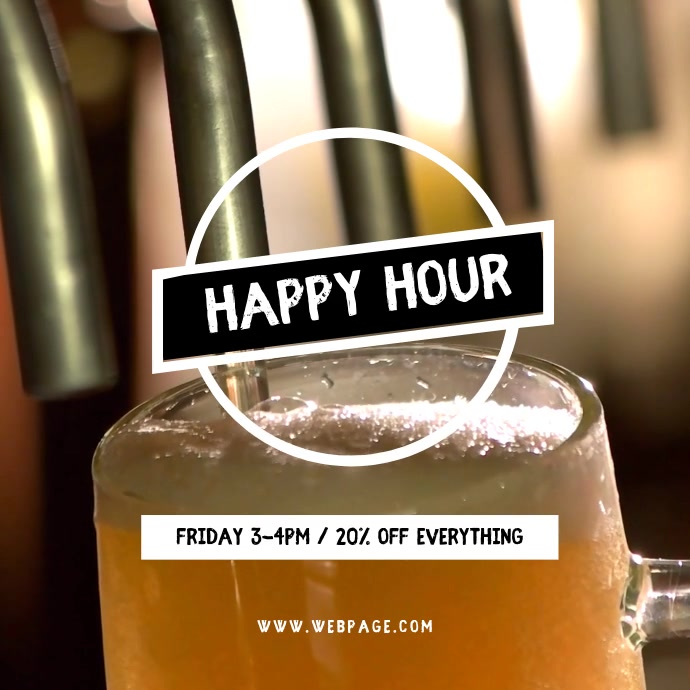 Bar Happy Hour Video Template