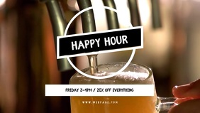 Bar Happy Hour Video Template Facebook Cover