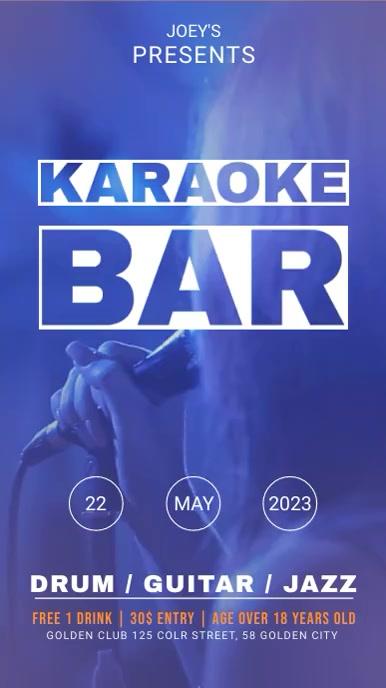 Bar Karaoke and Open Mic Night Event Digital Display