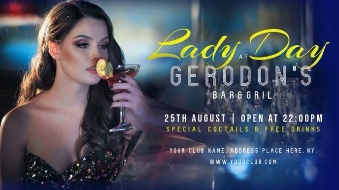 Bar Ladies' Night Digital Display Video Template