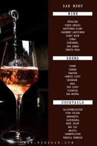 Bar Menu Wine List Template