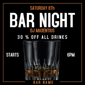 Bar night ad instagram post
