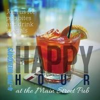 Bar Pub or Restaurant Happy Hour Instagram template