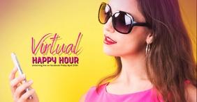 Bar Restaurant virtual happy hour facebook template