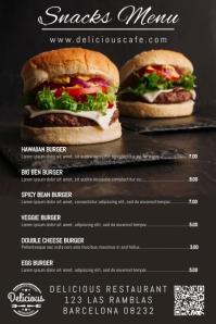 Bar Snack Menu Poster Template
