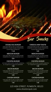 Bar Snacks Digital Signage Menu Template