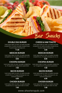 Bar Snacks Menu Template