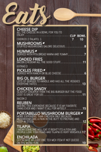 bar snacks restaurant food menu