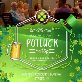 Bar St Patrick's Potluck Party Invitation Squ