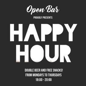 Bar Video Flyer Beer Glass Reveal Happy Hour
