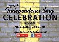 barbados independence celebration virtual eve Postkarte template