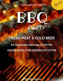 Barbecue, event,party,summer Flyer (US Letter) template