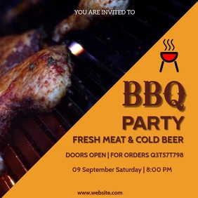 Barbecue, event,party Instagram Post template