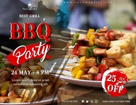 Barbecue Ad Folder (US Letter) template