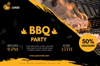 Barbecue banner Баннер 4' × 6' template