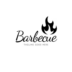Barbecue BBQ Chef Chef Logo Design Template