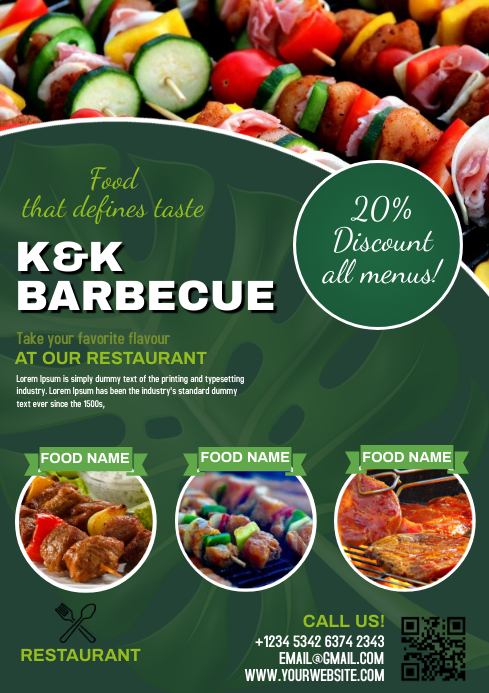 BARBECUE BBQ Flyer Free Customize