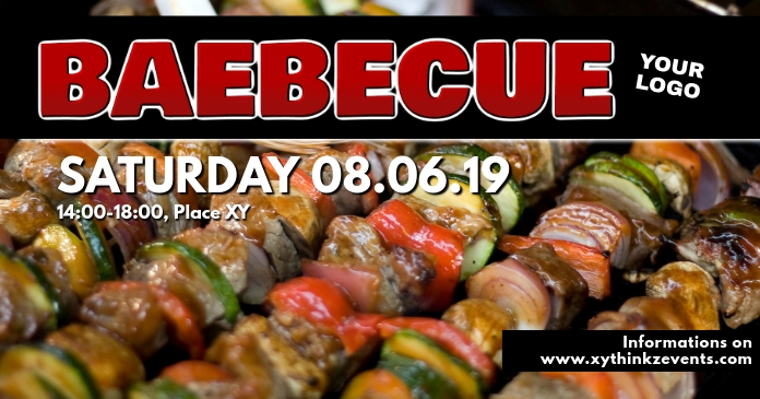 Barbecue BBQ Event Party Bar Banner Header Ad