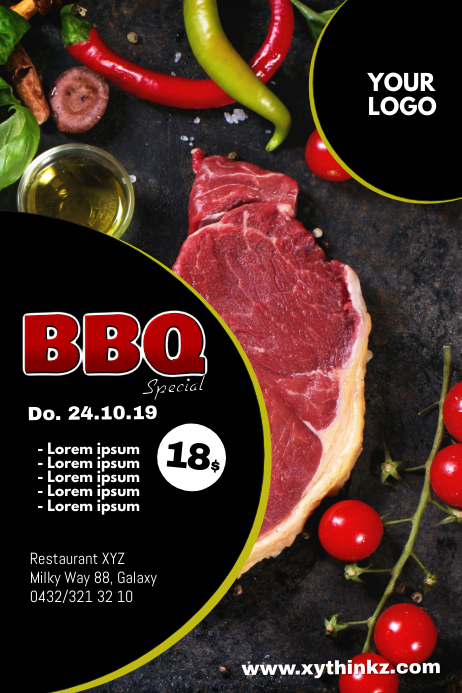 Barbecue BBQ Event Party Bar meat Header Ad