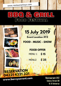 Barbecue BBQ Festival Event Party Restaurant A5 template
