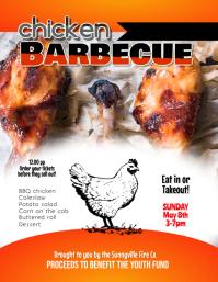 Barbecue BBQ Fundraiser Company Picnic Flyer template