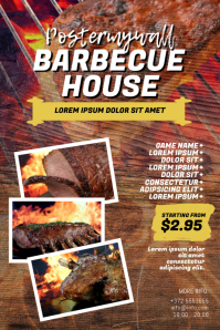 Barbecue BBQ House Flyer Template